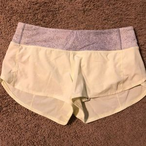 Lululemon Size 6 Speed Up Shorts Neon Yellow